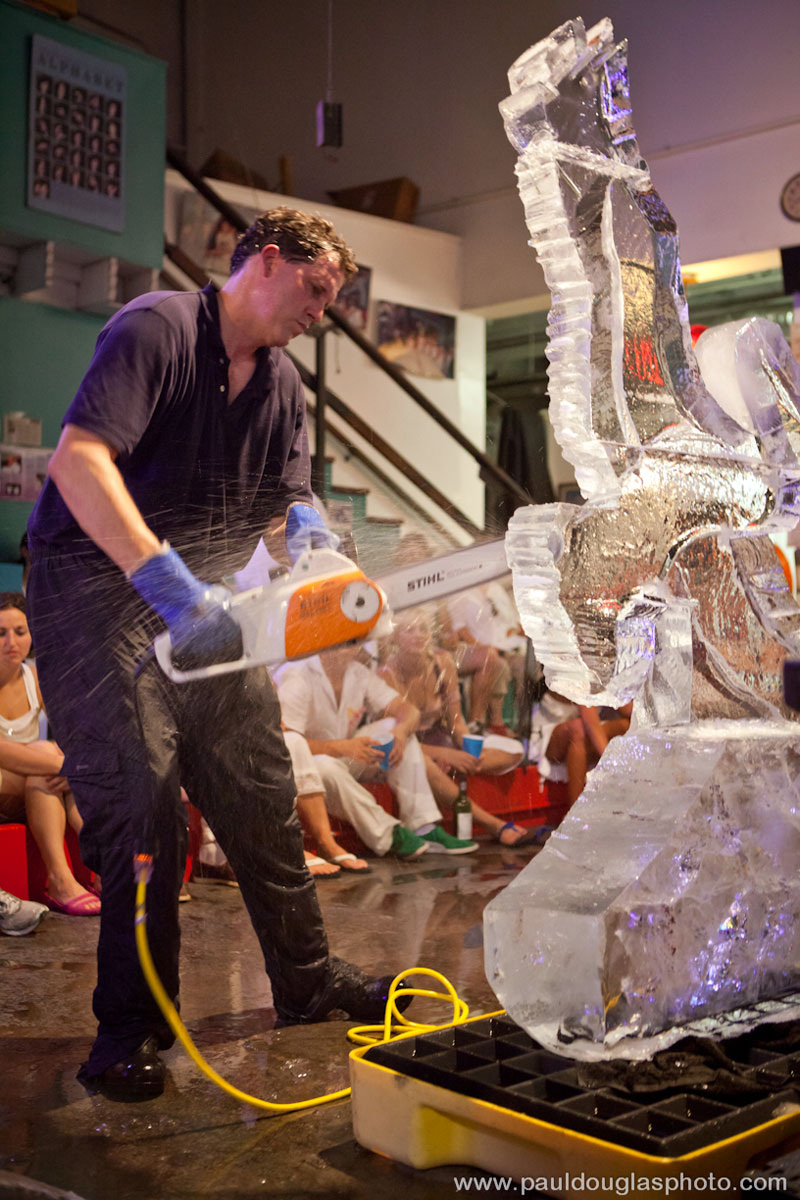 "alt=""Dawson refines his ice pelican with Stihl"""