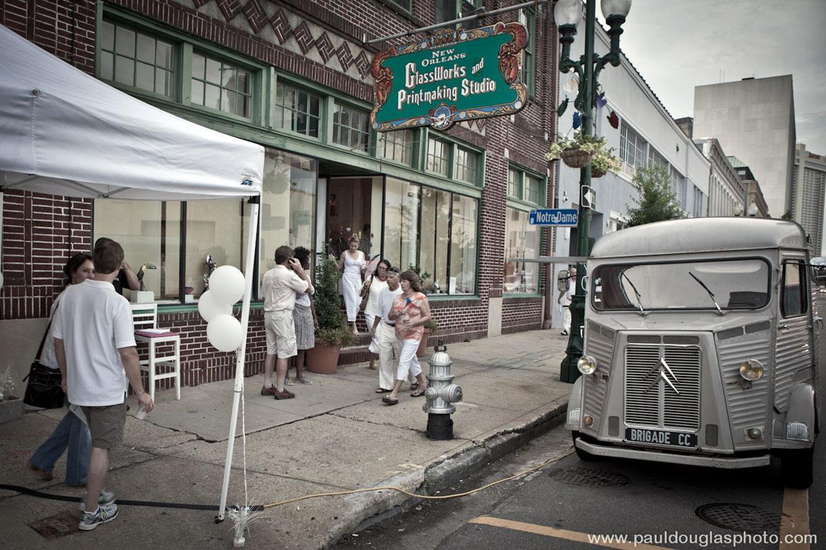 "alt=""The Crepe Cart, New Orleans Glassworks Exterior"""